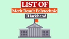 Jharkhand Polytechnic Merit List 2020