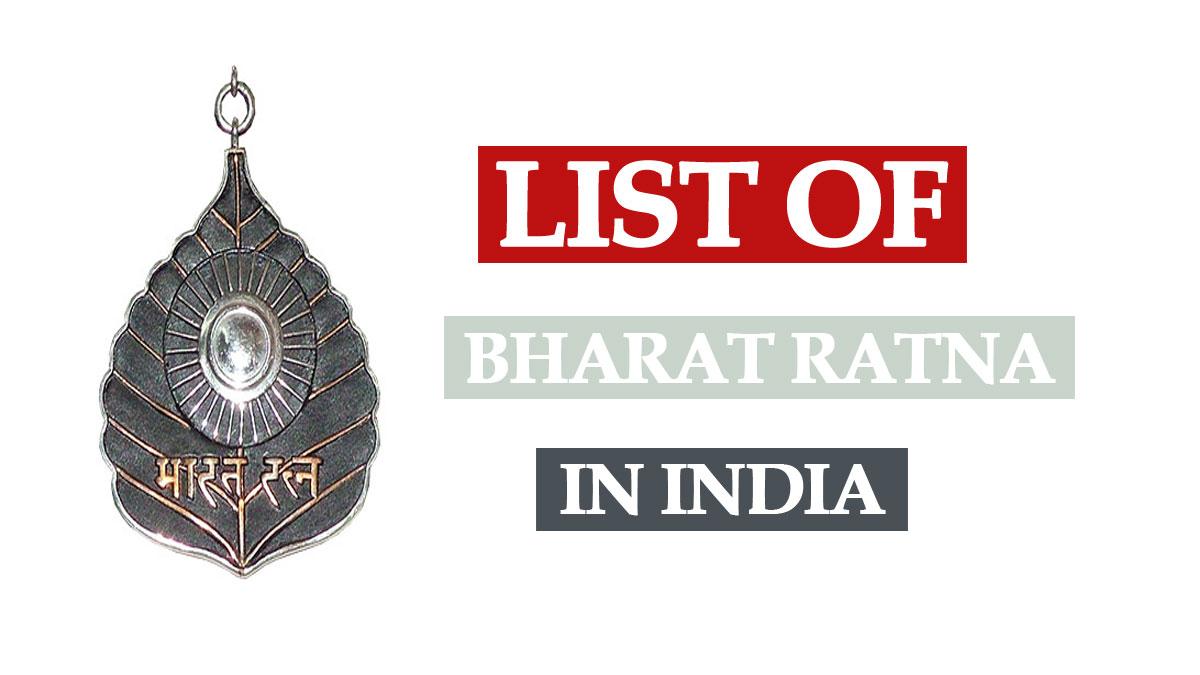 Bharat Ratna Award List in India