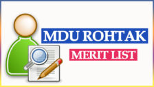 MDU Merit List UG & PG Courses 2021-22