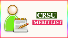 CRSU B.Ed Merit List 2021-22