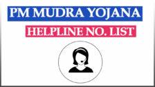 PM Mudra Yojana Toll Free Numbers / Helpline List PDF State Wise