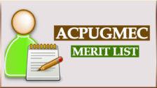 ACPUGMEC Merit List at medadmgujarat.org