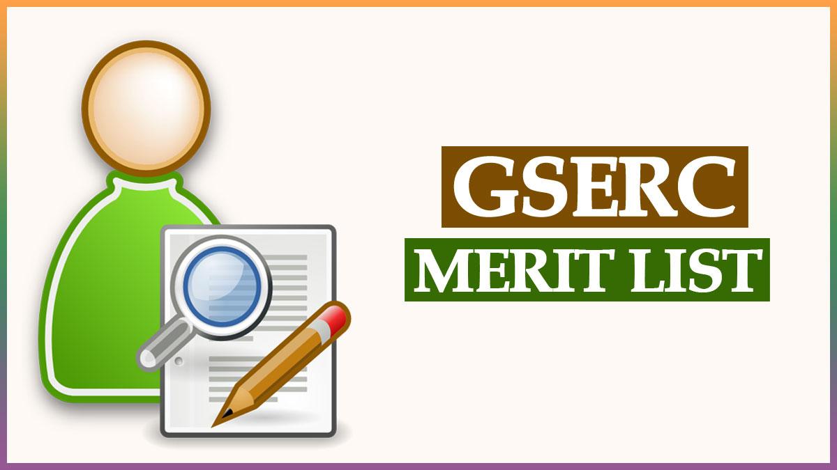 GSERC Secondary Merit List