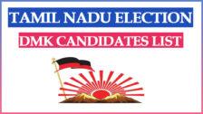 DMK Candidates List 2021 Tamil Nadu Assembly Election