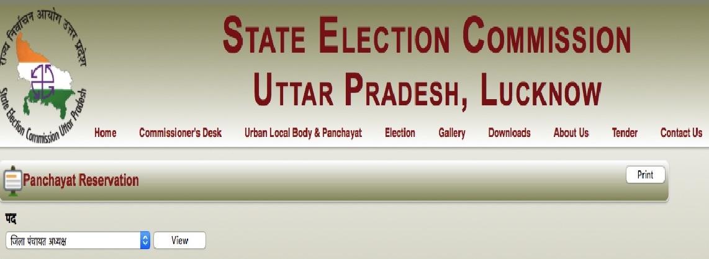 UP Gram Panchayat Reservation