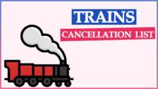Indian Railways Cancel Train List   Train Cancelled Enquiry