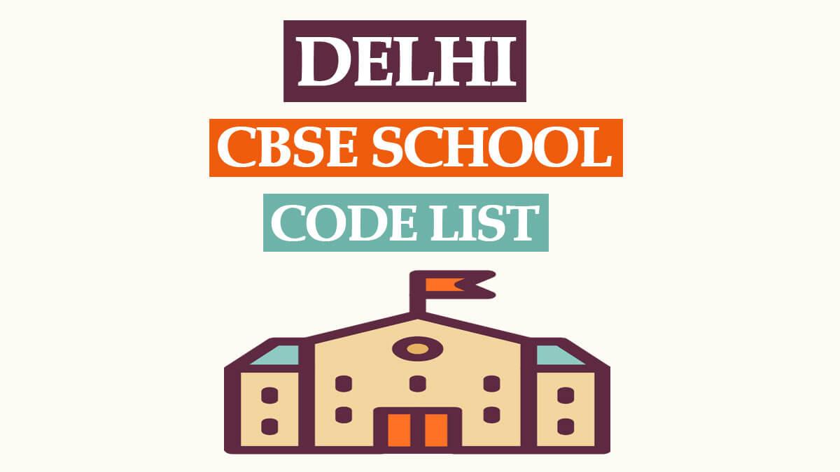 CBSE School Code List Delhi