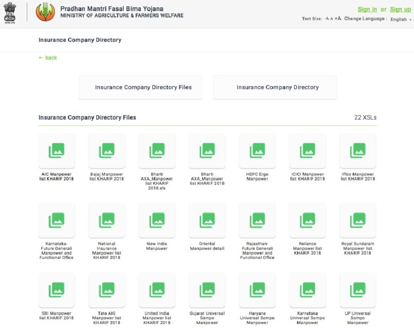 pmfby insurance company directory