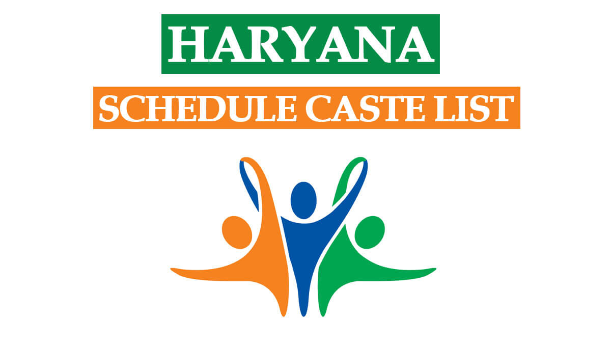 List of Scheduled Caste and Backward Classes in Haryana PDF